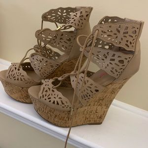 JustFab Wedges Size 7.5